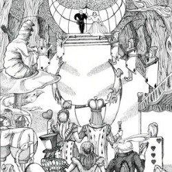 Eric Pedersen - Alice in Wonderland Wedding Illustration