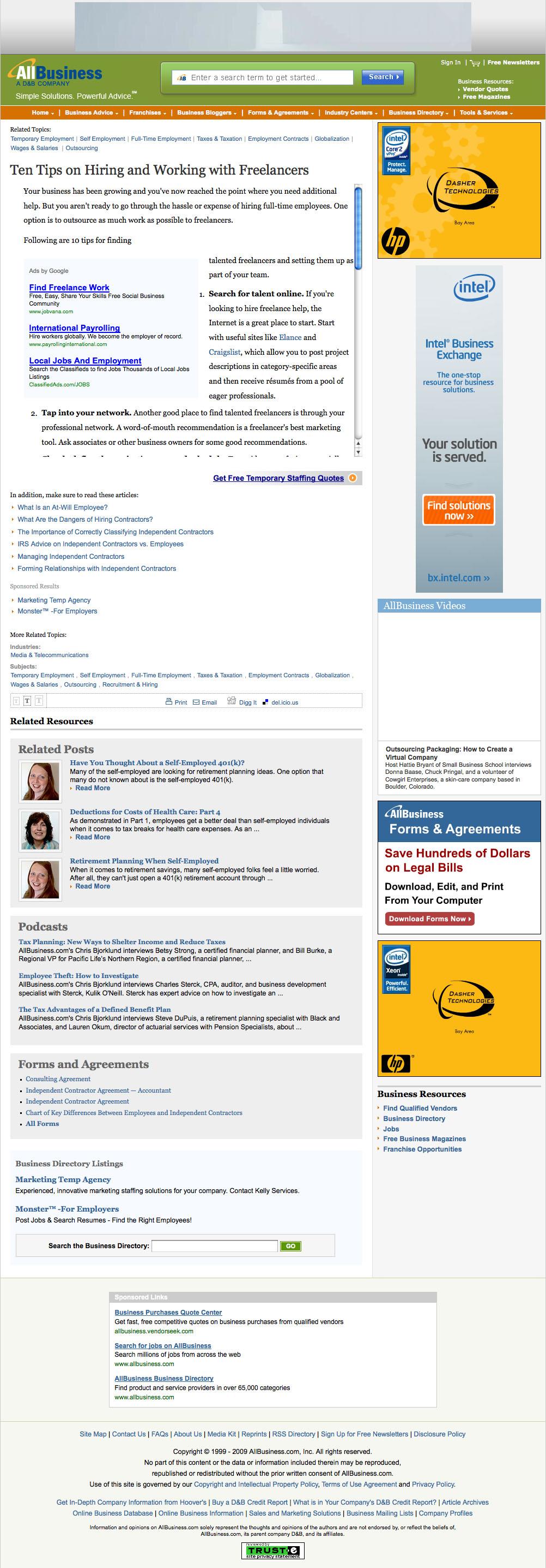 Eric Pedersen: AllBusiness Article Page