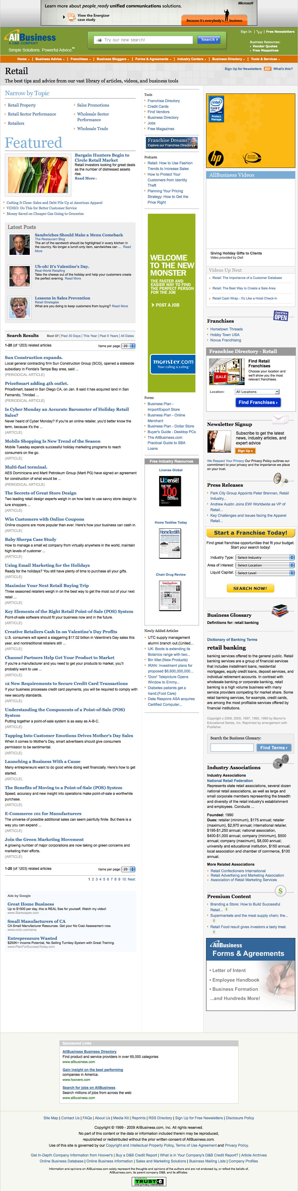 Eric Pedersen: AllBusiness Industry Page