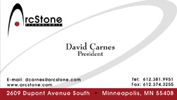 Eric Pedersen: Arcstone Technologies - Business Card
