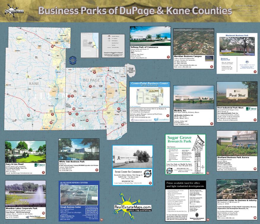 Eric Pedersen: Business Park Maps - Back Portion Sample