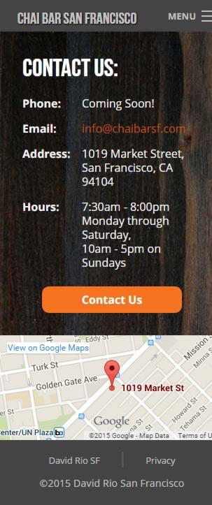 Eric Pedersen: Chai Bar SF Contact Us - Mobile Version