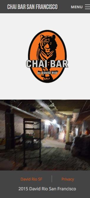 Eric Pedersen: Chai Bar SF Homepage - Mobile Version