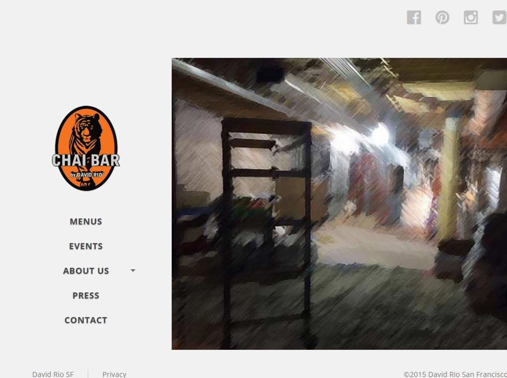 Eric Pedersen: Chai Bar SF Homepage - Tablet Version