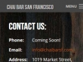Eric Pedersen: Chai Bar SF Contact Us - Mobile Version