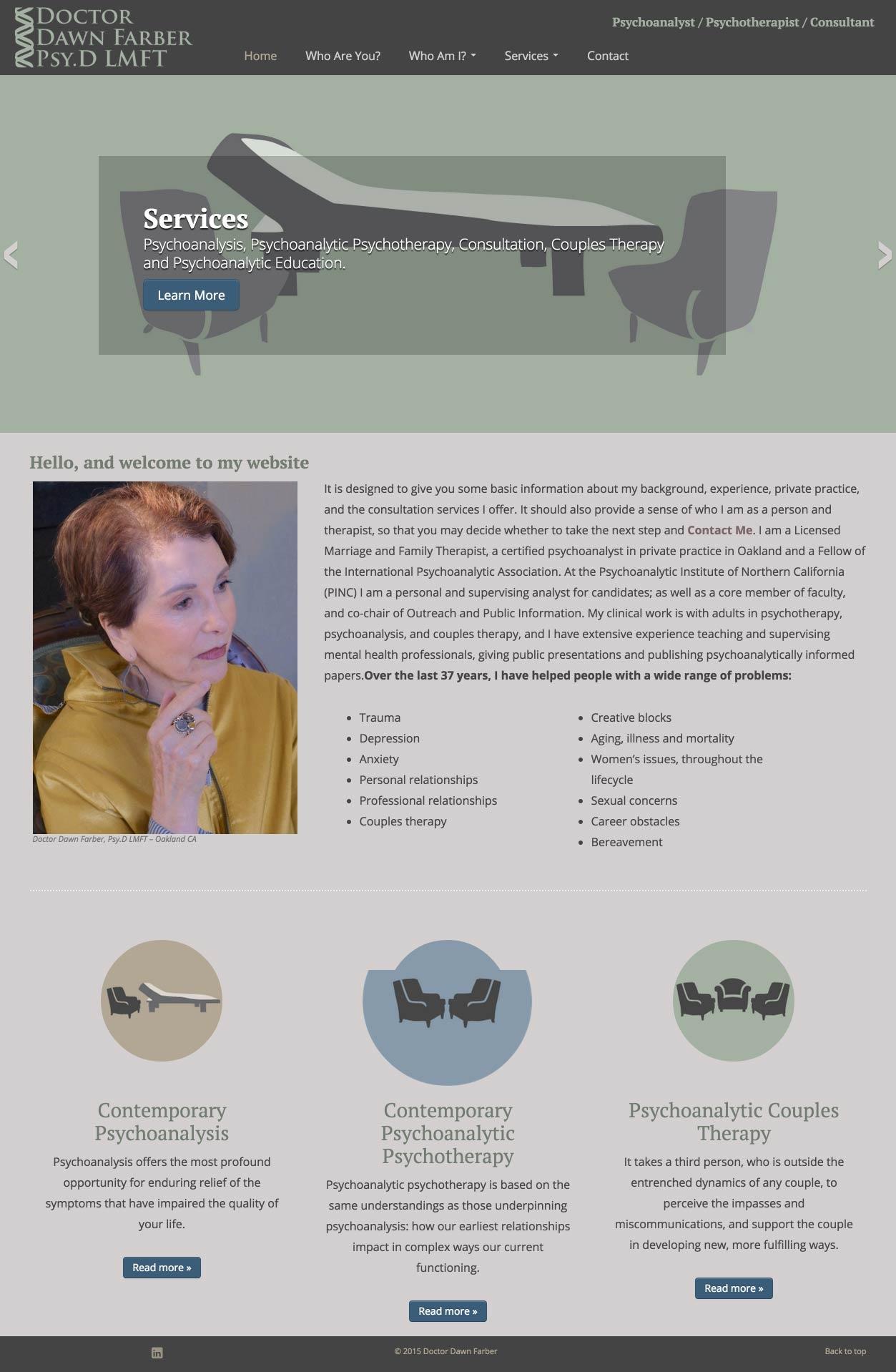 Eric Pedersen: Dawn Farber, PhD - Homepage