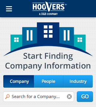 Eric Pedersen: Hoover's Mobile - Homepage - cropped