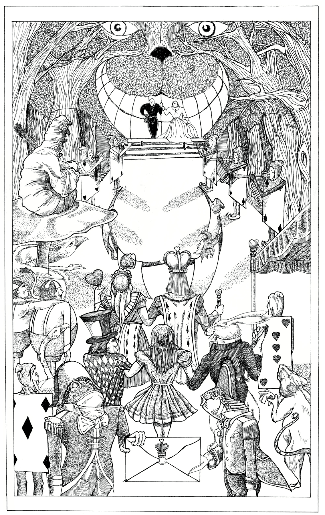 Eric Pedersen: Wedding Invitation - Alice in Wonderland