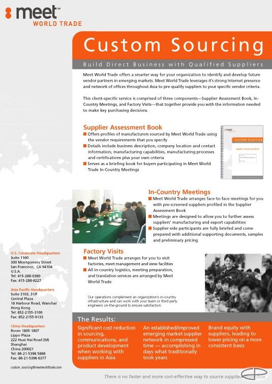Eric Pedersen: Meet World Trade Custom Sourcing Brochure