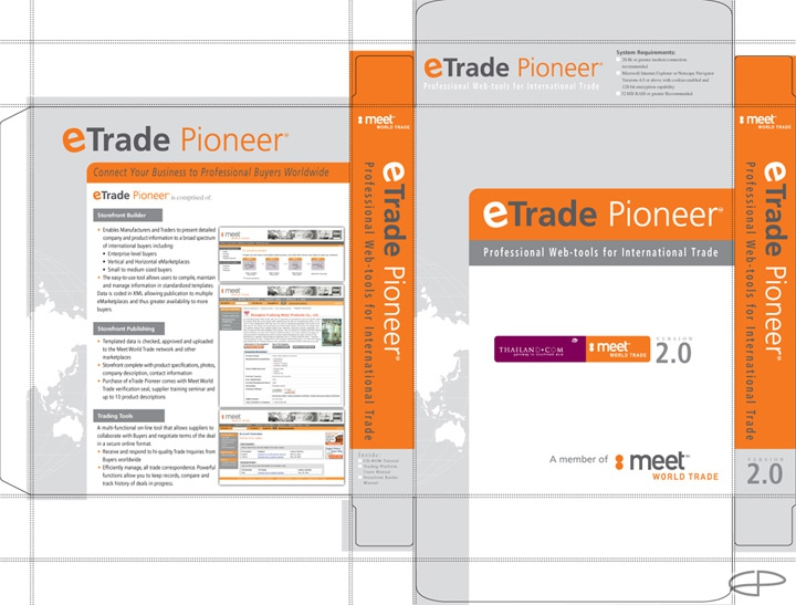 Eric Pedersen: eTrade Pioneer - Box Front and Back