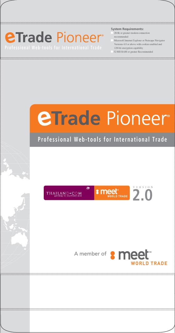 Eric Pedersen: eTrade Pioneer - Software Packaging Box Front