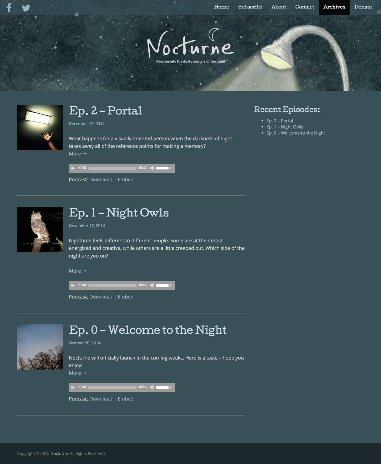 Eric Pedersen: Nocturne - Archives