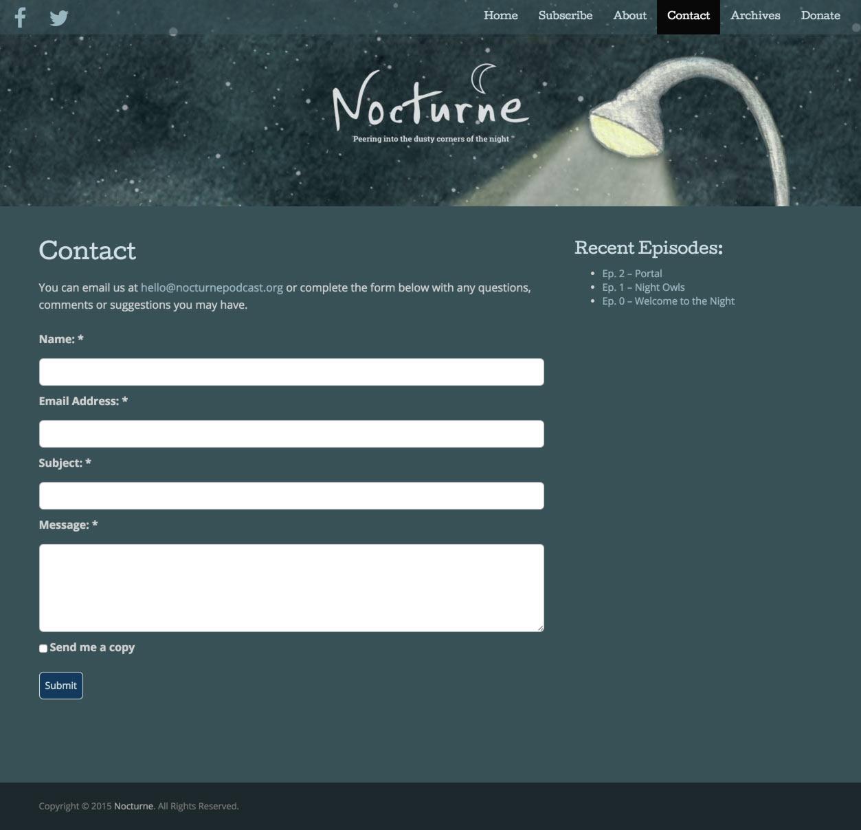Eric Pedersen: Nocturne - Contact