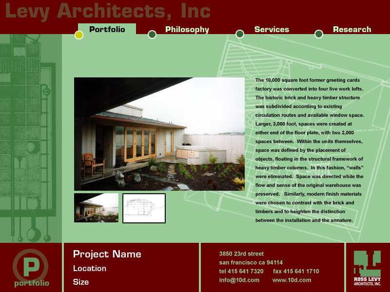 Eric Pedersen: Levy Architects - Design Comp 2