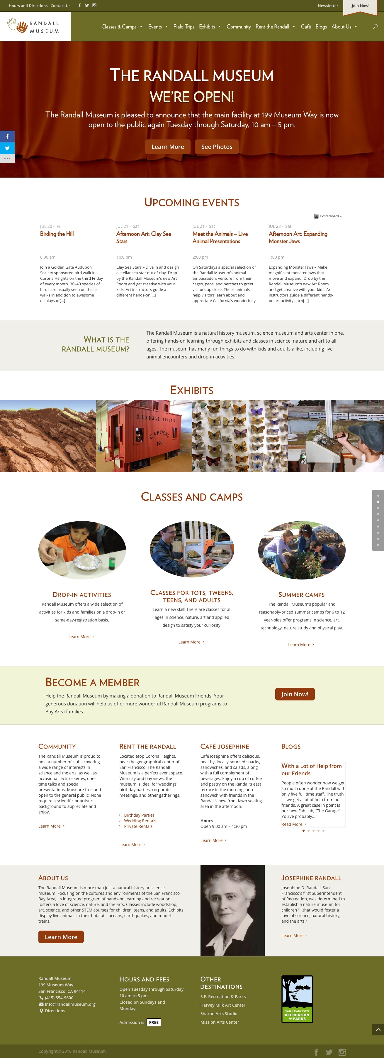 randallmuseum-org-homepage
