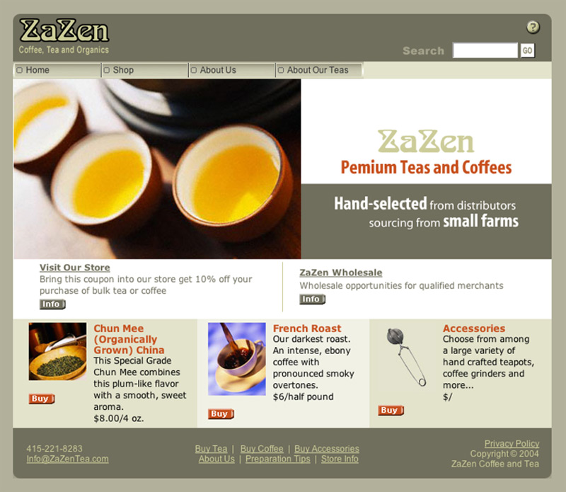 Eric Pedersen: ZaZen - Homepage - Version 2