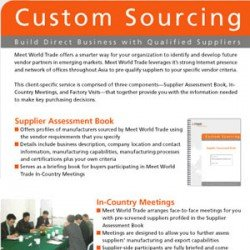 Eric Pedersen - Meet World Trade Custom Sourcing Brochure