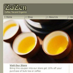 Eric Pedersen - ZaZen Cafe Website